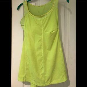 Lululemon yellow/green tank
